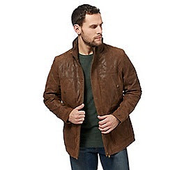 Big and tall brown leather jacket