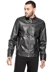 Black- One Leather Jacket for men