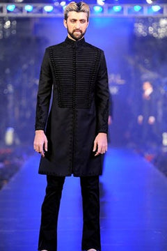 Black Pakistani Sherwani