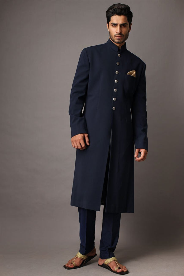 Black Smart Sherwani For Men
