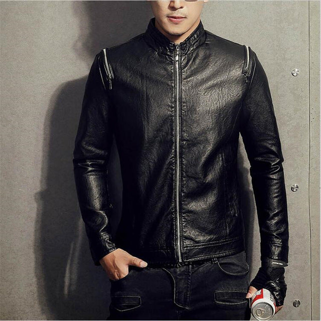 Black Winter Leather Jacket