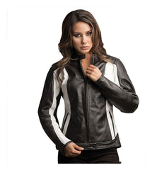 Black and White Motorcycle Jacket