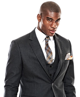Black one pinstripe suit