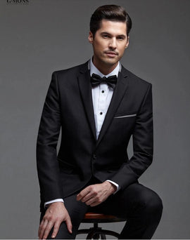 Black wedding suits for men