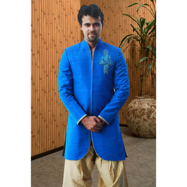 Blue Amazing Sherwani For Men