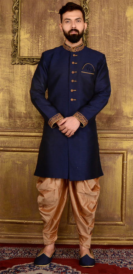 Blue Awesome Wedding Sherwani