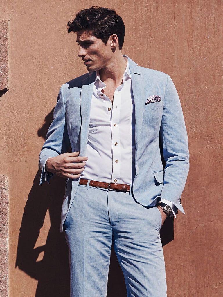 Blue  Suit  for Weddings and Hot summer days