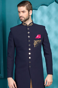 Blue Unusual Sherwani For Men