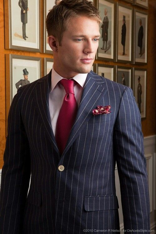 60% discount 100% authentic online here What tie goes with blue pinstripe suit