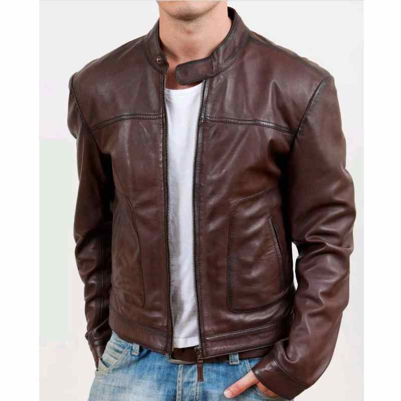 Brown-Leather-Jacket-with-Slit-Pockets