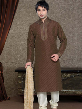 Brown Wedding Sherwani For Men