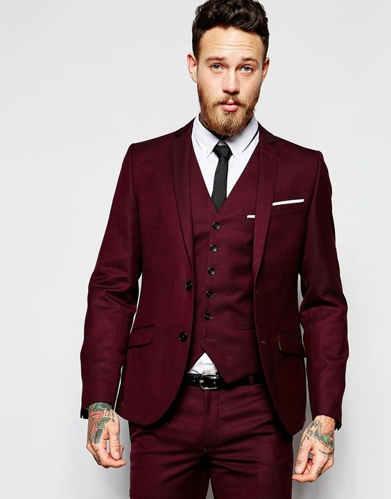 Burgundy Suits for your Wedding