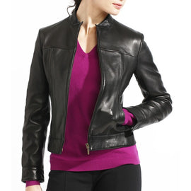 Casual Leather Jacket for women