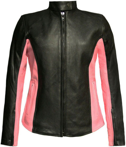 Graceful Leather Motorcycle Jacket for women