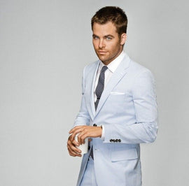 Cheap Blue Summer Suit for Men