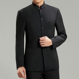 Collar Black Suit for men