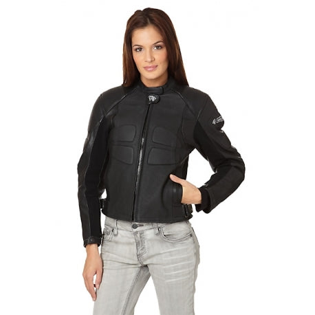 Smart Leather Motorcycle Jacket for women