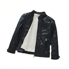 Cool Black Leather Jacket For Kids