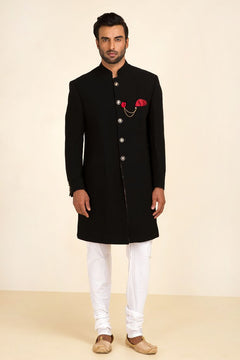 Cool Black Sherwani For Men