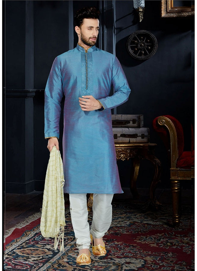 Cool Blue Sherwani For Men