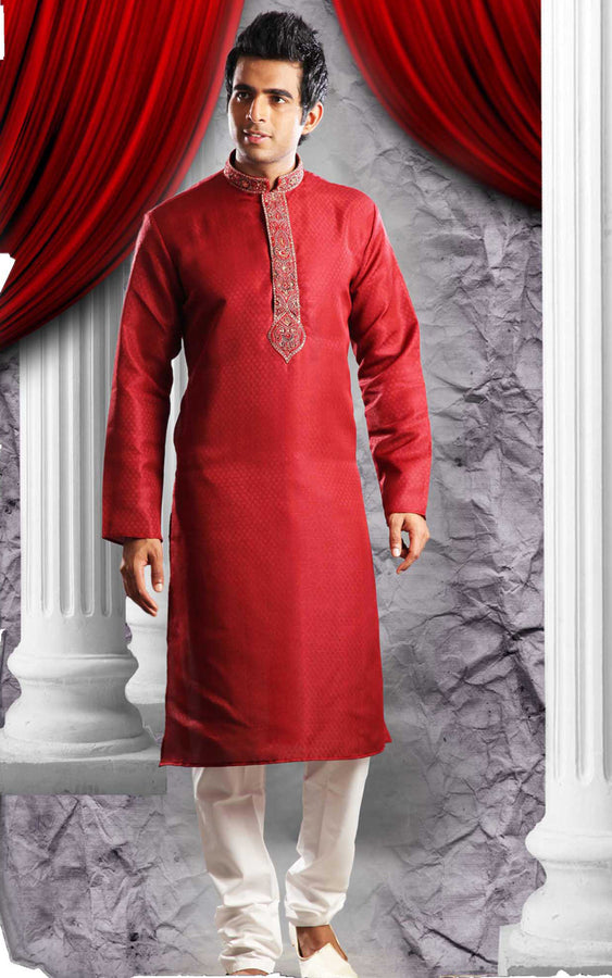Cool Red Sherwani For Men