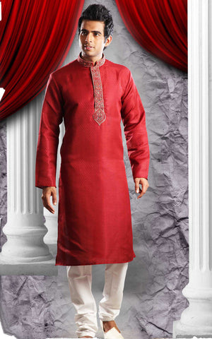 Stunning  Red Sherwani For Men