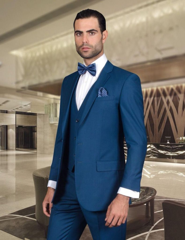 Custom Made Dark Navy Blue Men Suits