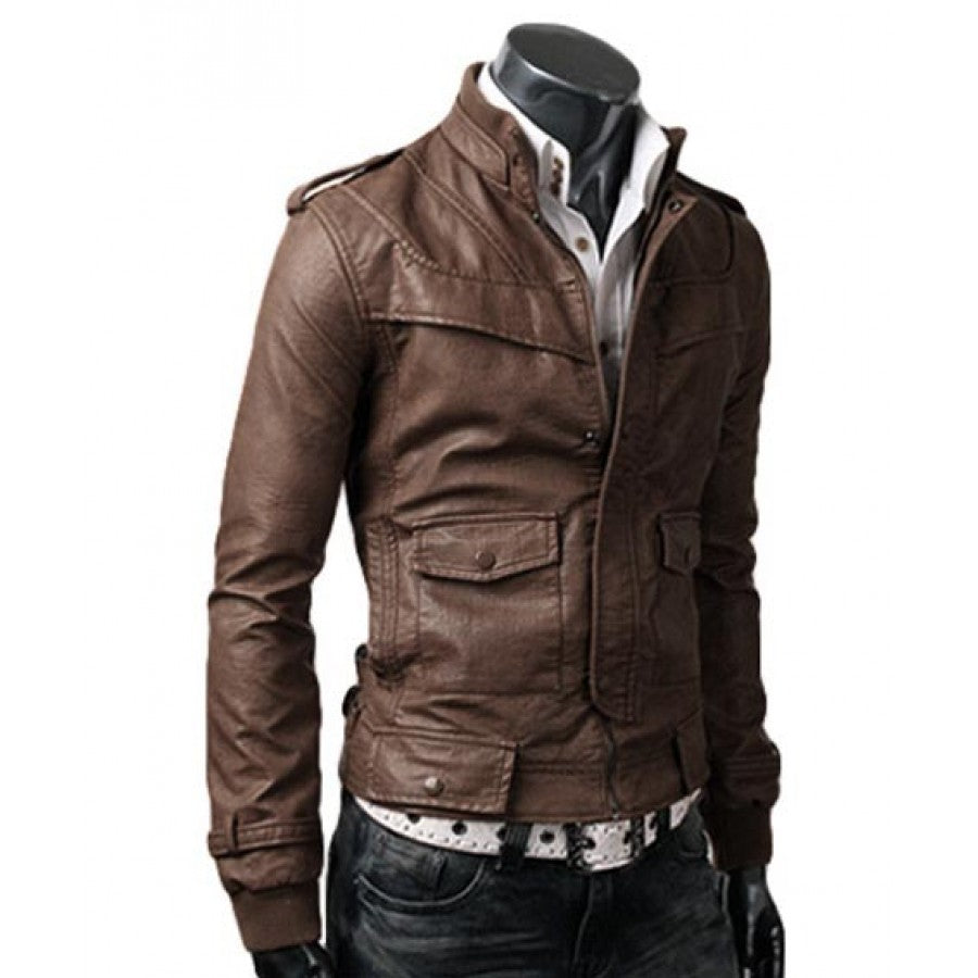 Custom light-brown-leather-jacket