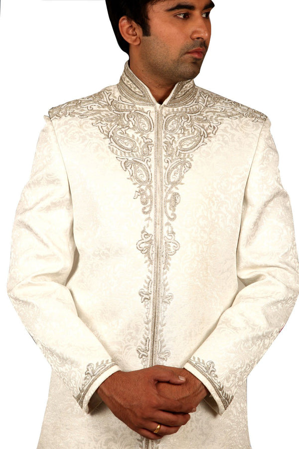 Elegant White Wedding Indian Sherwani