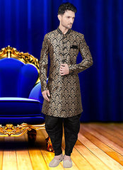 Engrossing black sherwani