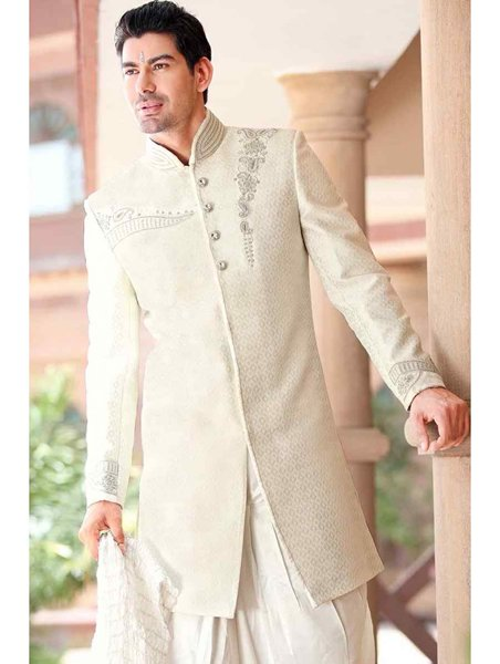 White Fashion Pakistani Sherwani