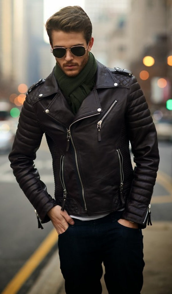 Fashionable-Spring-Men-Outfits-With-A-Leather-Jacket