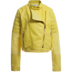 Glorified Yellow Leather Jacket For Kids