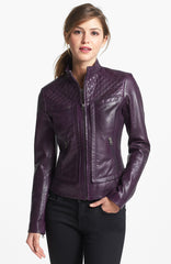 Good-looking leather jacket for women