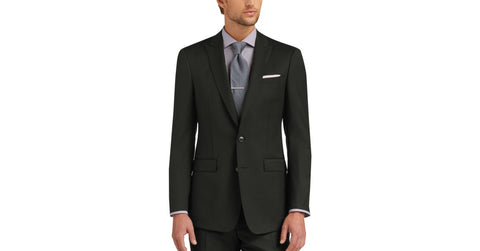 Chic black suit for men