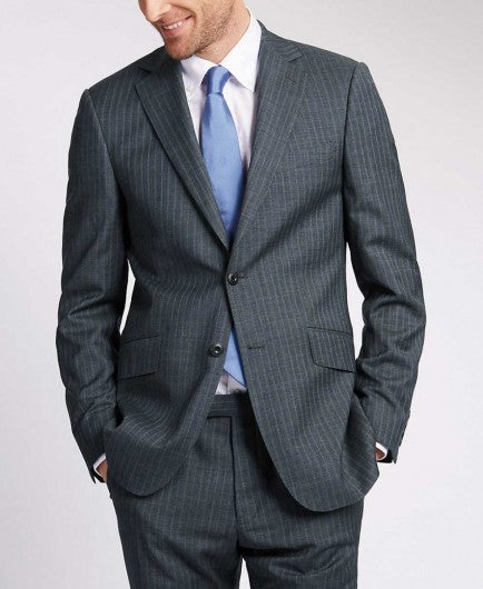Gray Pinstripe 2 button suit