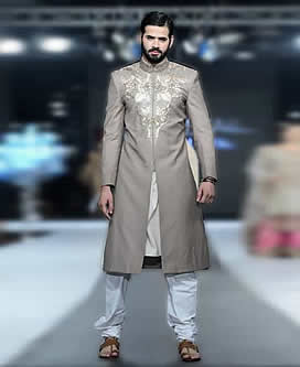 Grey Sherwani for Grooms
