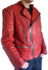 Handmade Custom New Men Stylish With Quilted Shoulders Leather