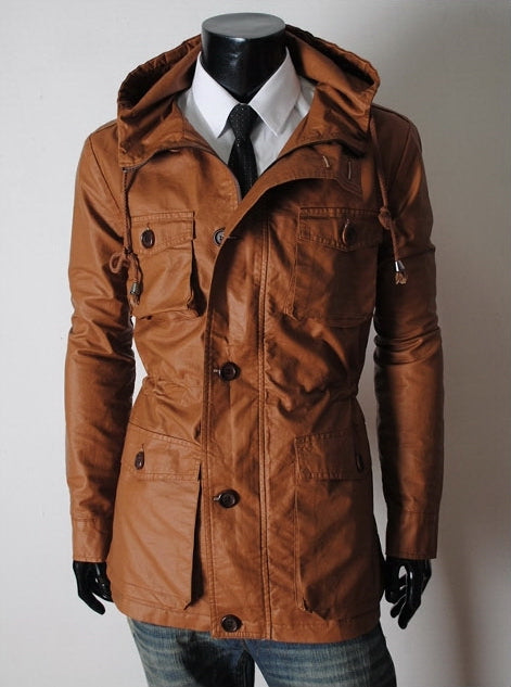 Handmade Custom New Men leather jacket