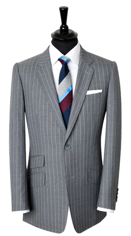 Handmade work grey pinstripe suit