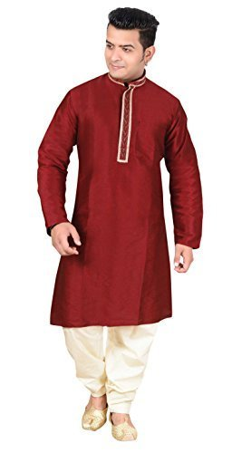Indian Sherwani with cotton and silk