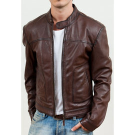 LEATHER motorcycle jacket for men