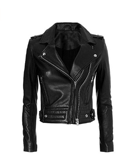 Las Vegas Womens Black Asymmetrical Motorcycle Jacket