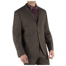 Light-Brown Pinstripe Suit for Men