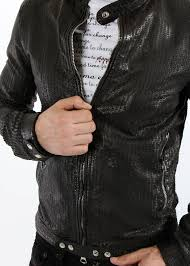 Light Black Leather Jacket for men
