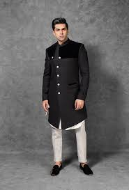 Marvelous black sherwani for men