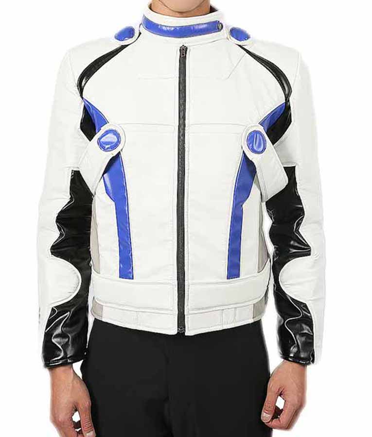 Mass Effect Andromeda Liam Kosta White Leather Jacket