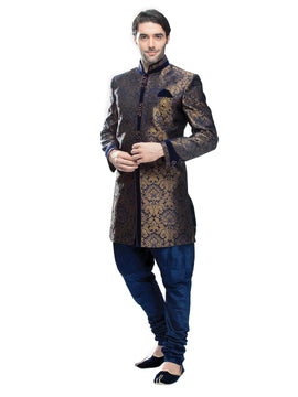 Men Blue Sherwani