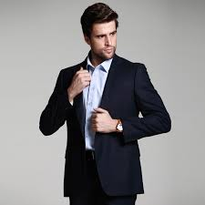 Men Business Suits Thin Wool Suit Professional Wear