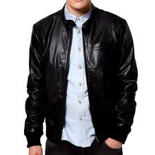 Men Leather Shiny Jacket  for men